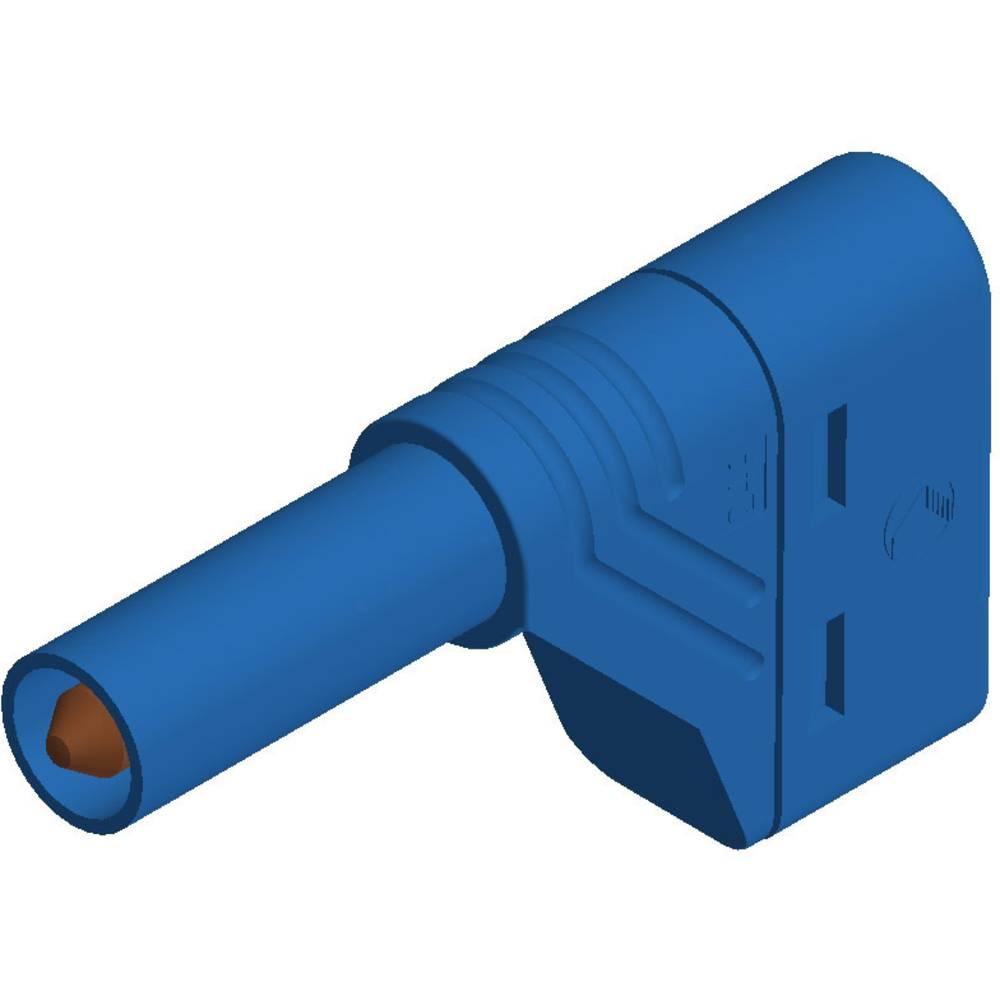 Sikkerhedslamelstik Stik, vinklet SKS Hirschmann LAS S W 4 mm Blå 1 stk