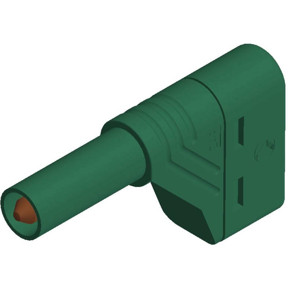 Sikkerhedslamelstik Stik, vinklet SKS Hirschmann LAS S W 4 mm Grøn 1 stk