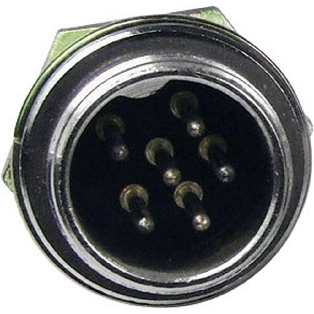 Cliff FC684203-Mini konektor z zaščito, za vertikalno vgradnjo, število polov: 3, srebrn, 1 kos