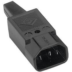 IEC-kontakt 42R Series (Nätanslutning) 42R Kontakt hane rak Antal poler: 2 + PE 10 A Svart K & B 42R041311 1 st