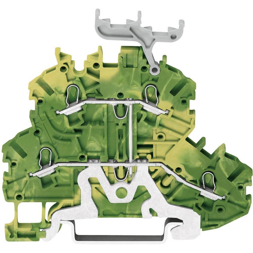 Dobbeltlags-beskyttelseslederklemme 3.50 mm Trækfjeder Belægning: Terre Grøn-gul WAGO 2000-2237 1 stk
