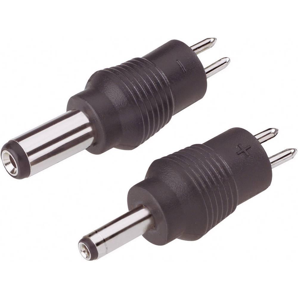 Niskonaponski komplet adaptera s niskonaponskim konektorom, vanjski/unutarnji: 5.5/2.1 mm i 3.5/1.35 mm, 2 kom.