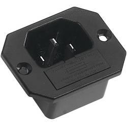 IEC-kontakt 42R Series (Nätanslutning) 42R Kontakt hane inbyggd vertikal Antal poler: 2 + PE 10 A Svart K & B 42R321121 1 st