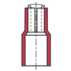 ploščati vtič Širina jezička: 0.8 mm 20 kos