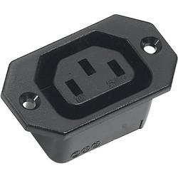 IEC-kontakt 43R Series (Nätanslutning) 43R Hona inbyggd vertikal Antal poler: 2 + PE 10 A Svart K & B 43R031121 1 st