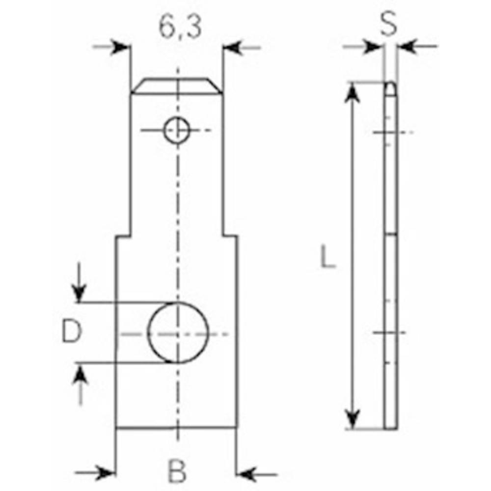 Plosnati utikač 6,3 x 0,8mm 3846.67 Vogt Verbindungstechnik