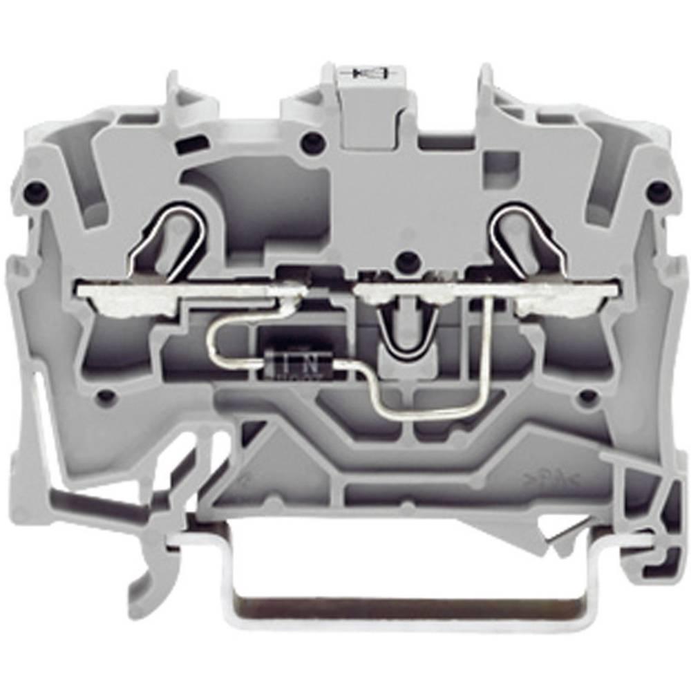 Diodeklemme 4.20 mm Trækfjeder Belægning: L Grå WAGO 2001-1211/1000-411 1 stk