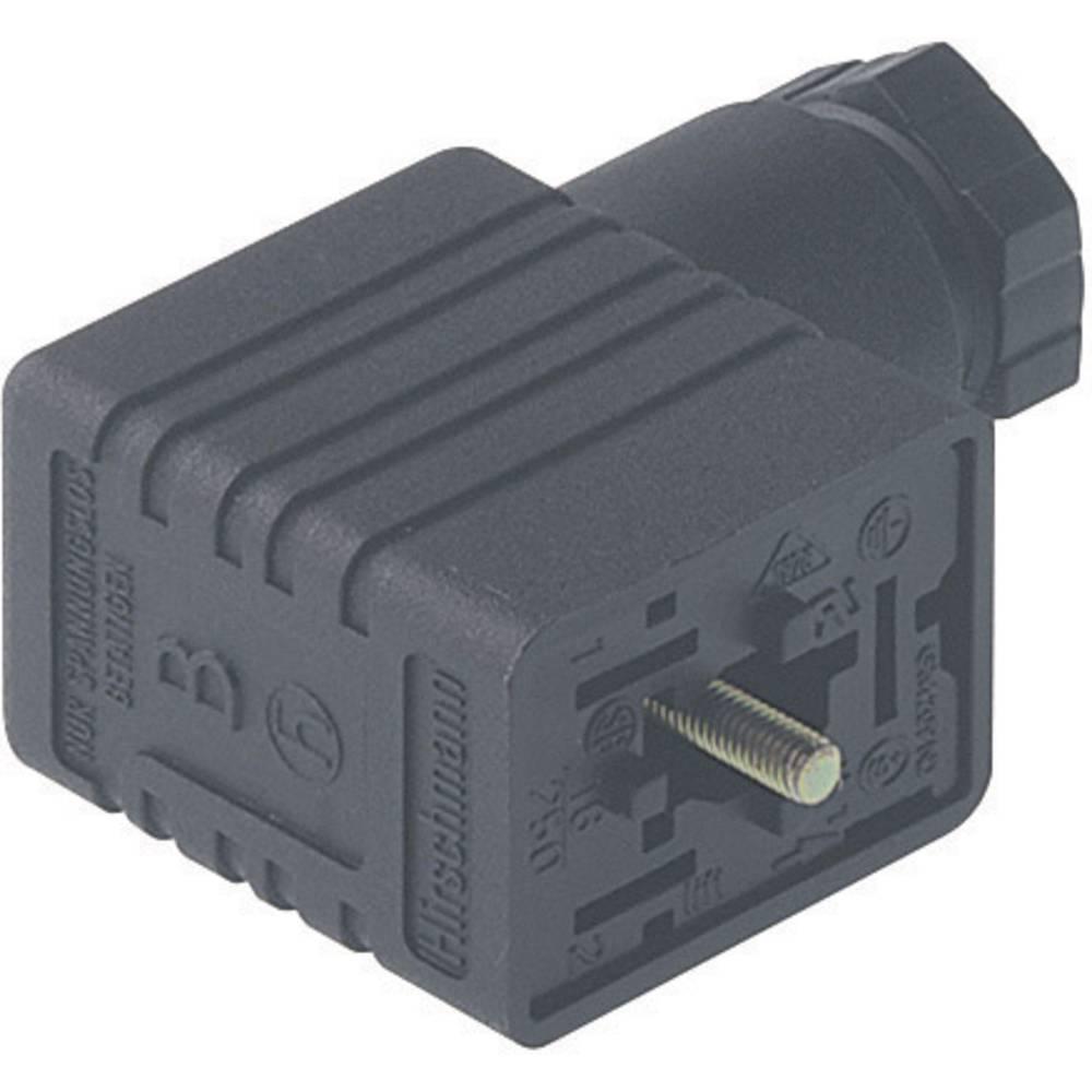 Elektrisk stik, felt udlæg Hirschmann GM 216 NJ 2 + PE Sort 1 stk