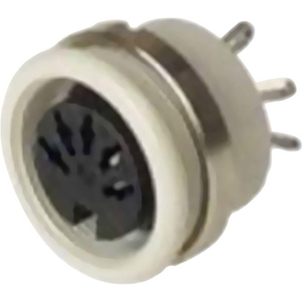 DIN-vgradni ženski konektor, vgradni vertikalni št.polov: 4 siv Hirschmann MAB 4100 1 kos