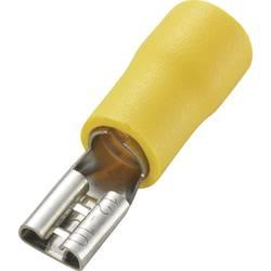 Ploski vtični rokav, širina vtiča: 4.8 mm debelina vtiča: 0.5 mm 180 ° delno izoliran, rumene barve TRU COMPONENTS 1572191 50 ko