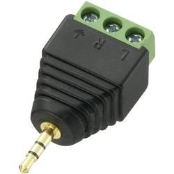 Jack konektor LT-PJ-2.5 Conrad 2.5 mm, utikač, ravni broj polova: 3 stereo crna, 1 komad