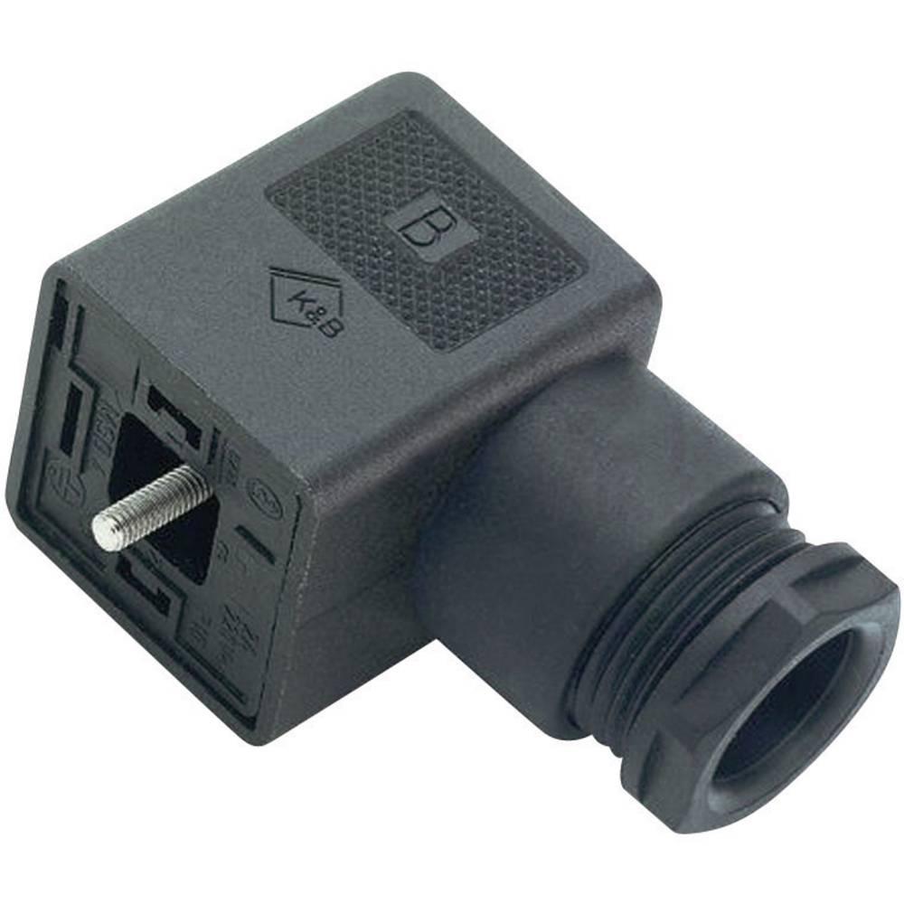 Magnetventil stik byggeri type A Series 210 Binder 43-1704-002-03 Sort 1 stk