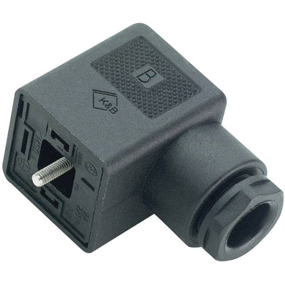 Magnetventil stik byggeri type A Series 210 Binder 43-1706-004-04 Sort 1 stk