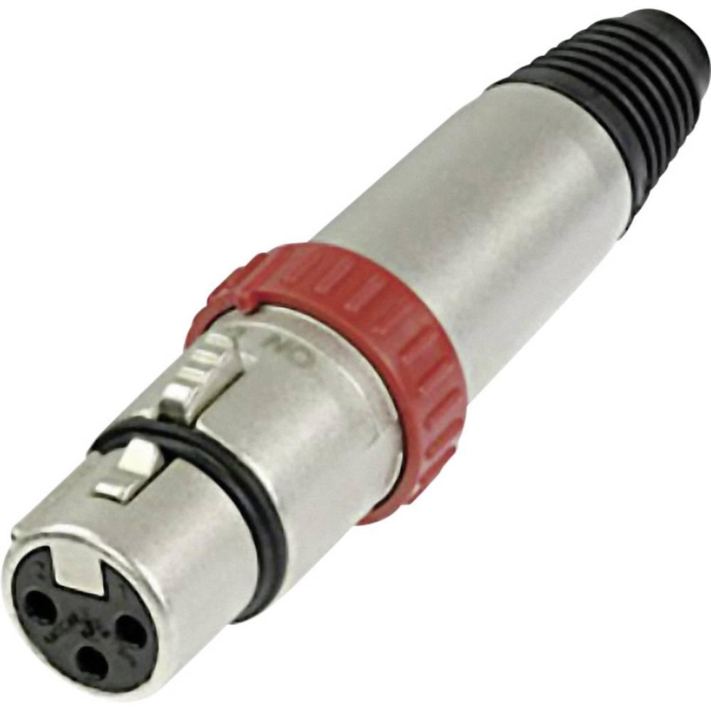 Ženski konektor XLR serije FXS ravni ženski konektor s stikalom število polov=3 NC 3 FXS N NC3FXS Neutrik