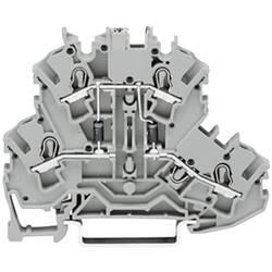 Dobbeltlags diodeklemme 5.20 mm Trækfjeder Belægning: L Grå WAGO 2002-2214/1000-489 1 stk