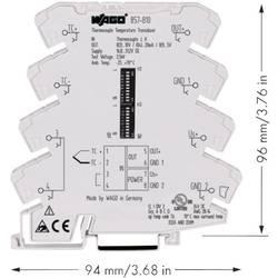 WAGO nastavljivi merilni pretvornik temperature za termoelemente tipa J, K 857-810