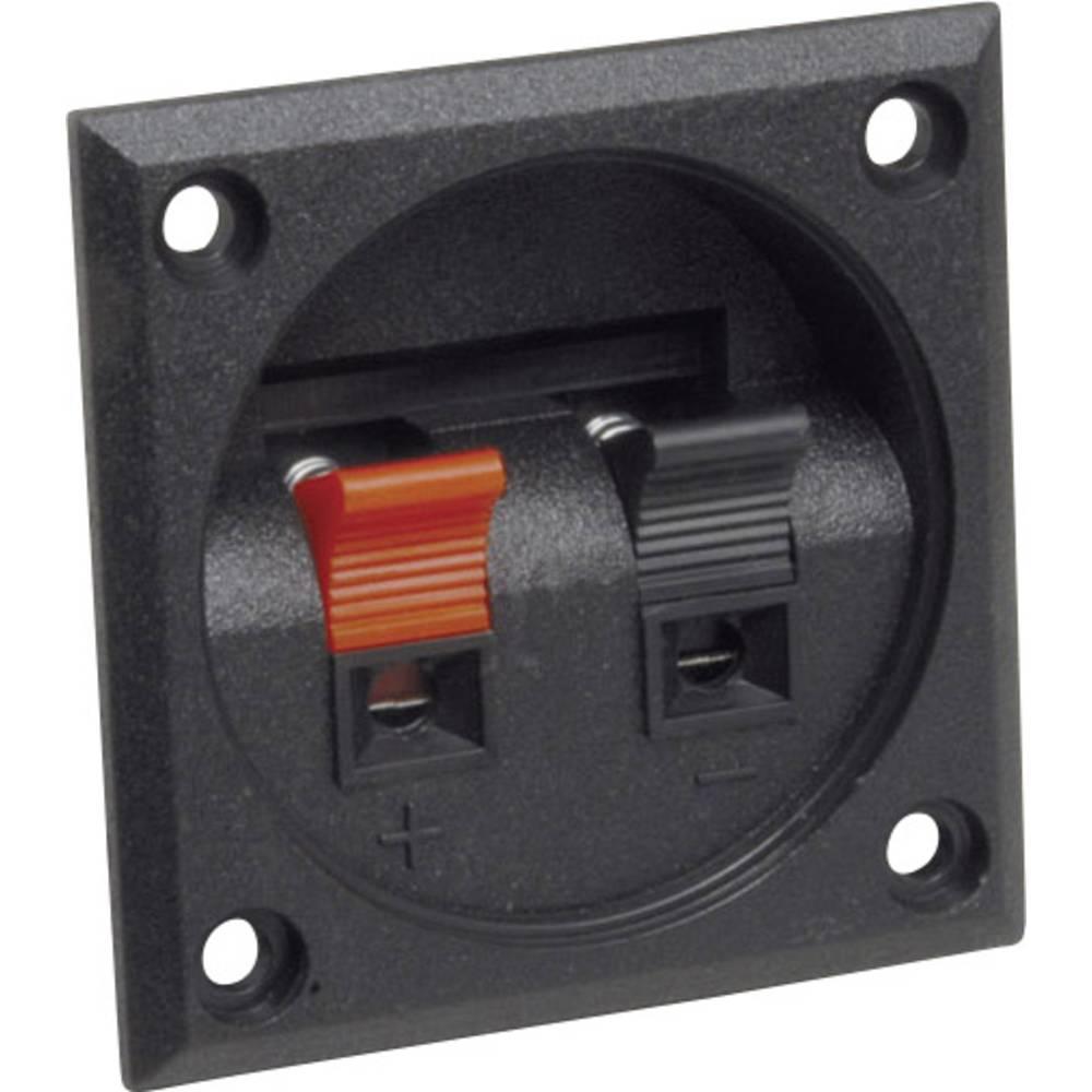 Priključek za zvočnike s sponkami s priključnimi letvami, število polov=2 BKL Electronic 205027