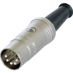 DIN- okrogli konektor-vtič, raven št.polov: 5 črn Rean NYS322 1 kos