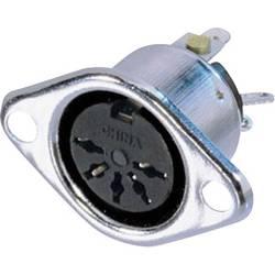 DIN- okrogli ženski konektor s prirobnico in kontakti raven št.polov: 5 srebrn Neutrik NYS325 1 kos