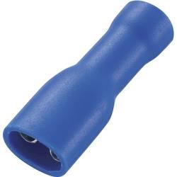 Ploski vtični rokav, širina vtiča: 4.8 mm debelina vtiča: 0.8 mm 180 ° polno izoliran, modre barve TRU COMPONENTS 737840 50 koso