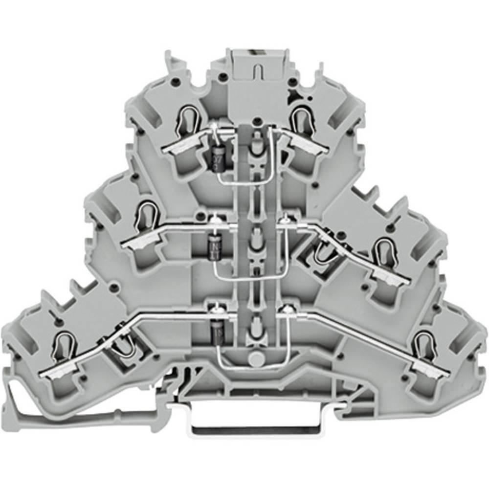 Trippel-diodeklemme 5.20 mm Trækfjeder Belægning: L Grå WAGO 2002-3212/1000-674 1 stk