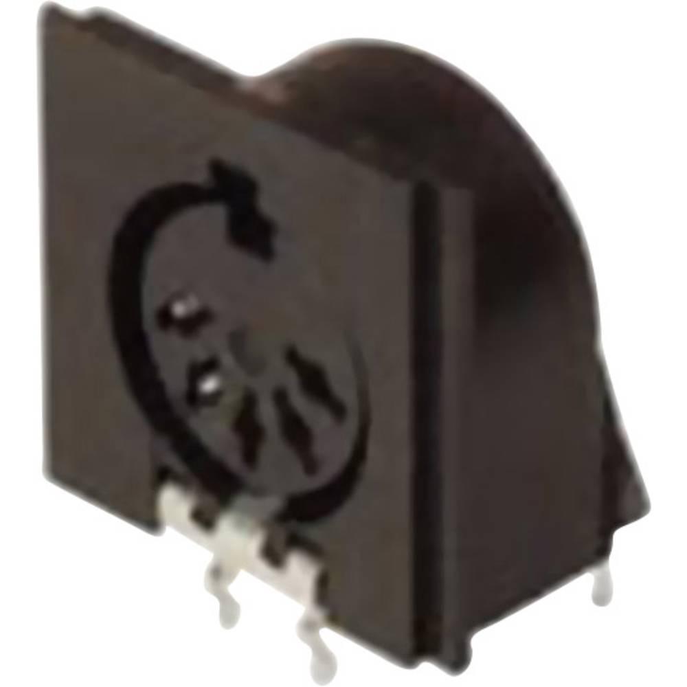 DIN-vgradni ženski konektor, vgradni horizontalni št.polov: 5 črn Hirschmann MAB 5SH 1 kos