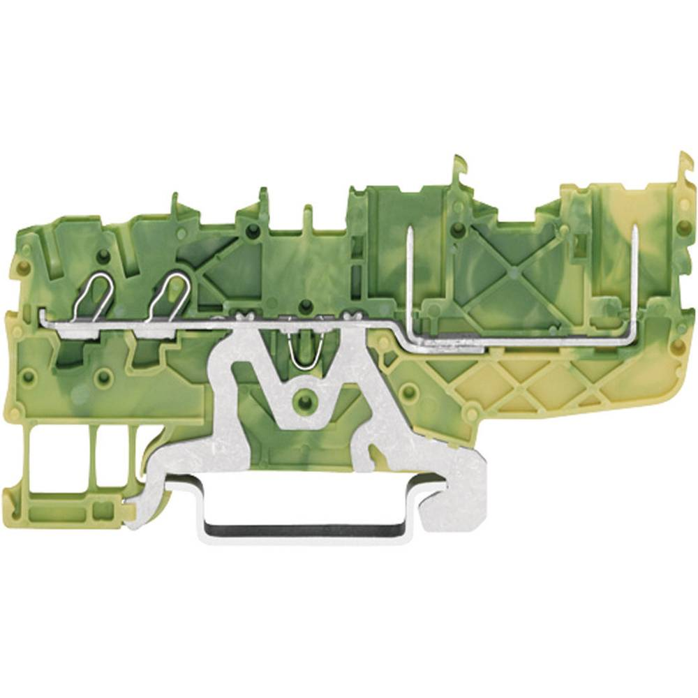 Basisklemme 3.50 mm Trækfjeder Belægning: Terre Grøn-gul WAGO 2020-1407 1 stk