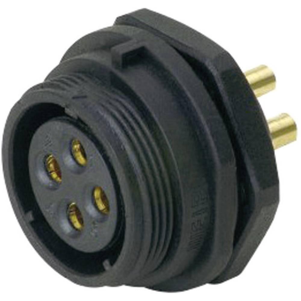 IP68-vtični konektor, serije SP2112 / S 7 poli: 7 vtičnica za naprave s sprednjo montažo 15 A SP2112 / S 7 Weipu 1 kos