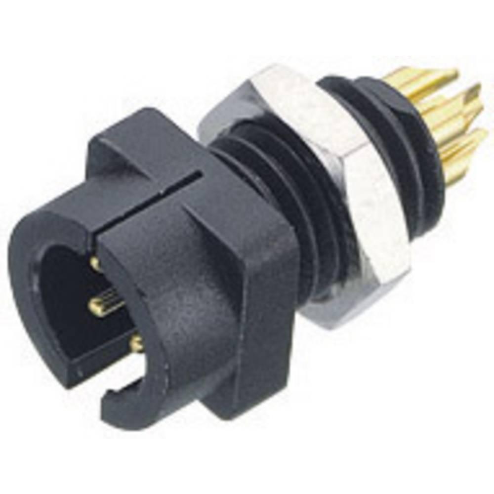 Sub-miniaturni-okrogli vtični konektor, serije 719 poli: 3 prirobni vtič 3 A 09-9749-30-03 Binder 1 kos