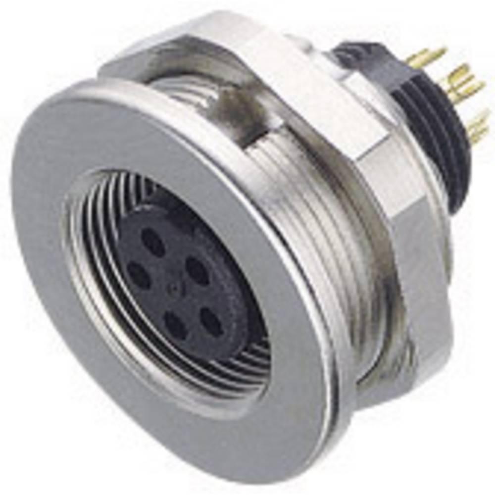 Mini okrogli konektor Binder serije 712, 09-0416-00-05, nazivni tok: 3 A, poli: 5, 1 kos