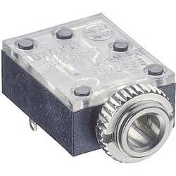 Jack-stik 3,5 mm Lumberg 1503 09 Poltal 3 Stereo Sort 1 stk