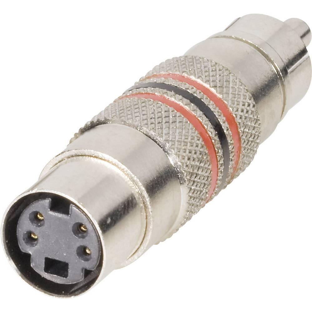 BKL Electronic 0204504-Činč adapter, činč moški/mini DIN ženski, 1 kos