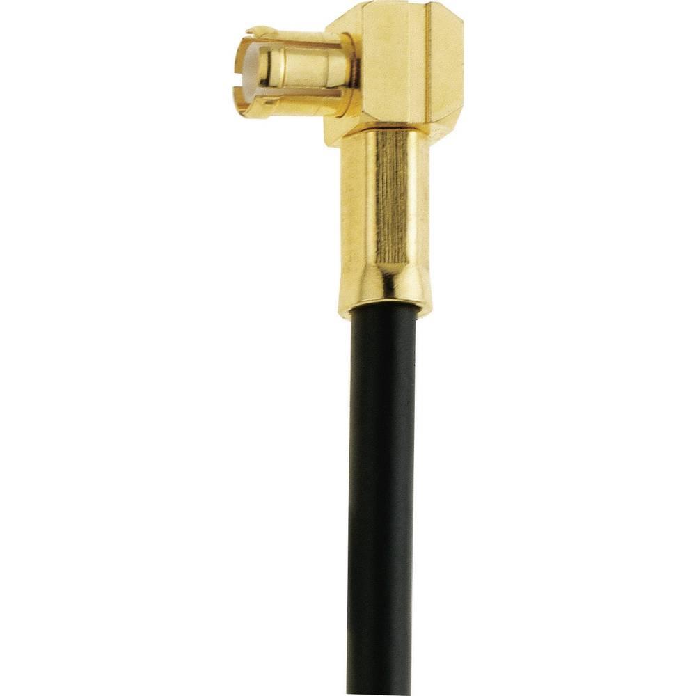 MCX moški konektor za kabel IMS 004.01.1420.021, kotni, pozl. medenina, spajkanje/stisk.