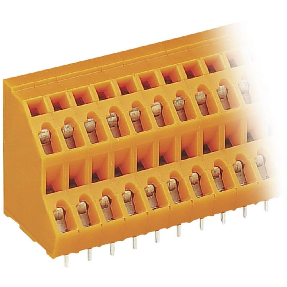 Dobbeltrækkeklemme WAGO 2.50 mm² Poltal 12 Orange 1 stk