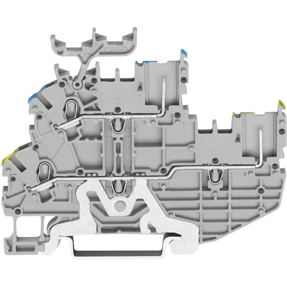 Dobbeltlags-basisklemme 3.50 mm Trækfjeder Belægning: Terre, N Grå WAGO 2020-2217 1 stk