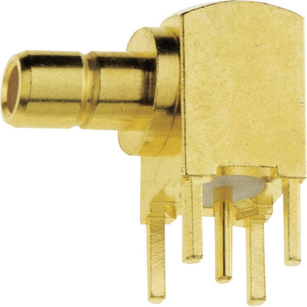 SMB moški konektor IMS 142.11.1520.003, kotni, pozlačena medenina, za tiskano vezje, 1 kos