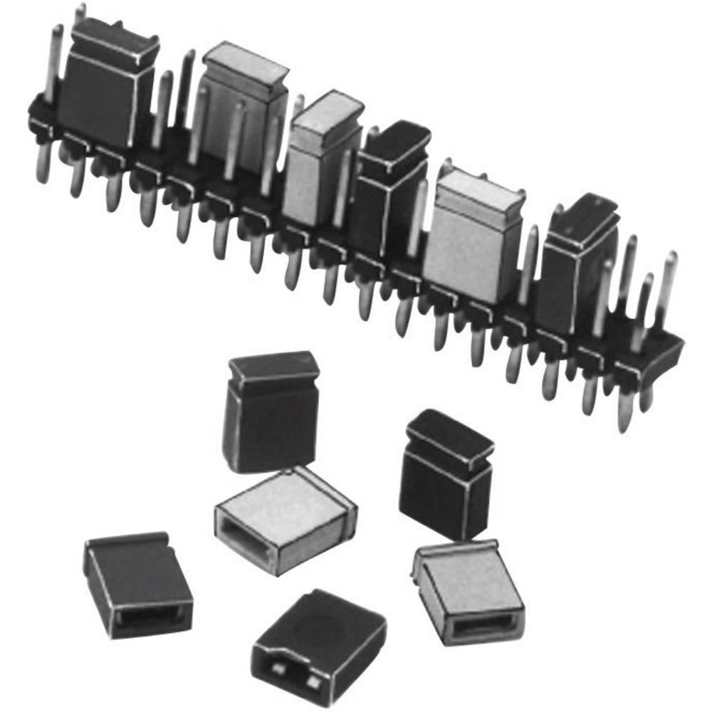 Kortslutningsbro Rastermål: 2.54 mm Poltal hver række:2 W & P Products 165-101-10-00 Indhold: 1 stk
