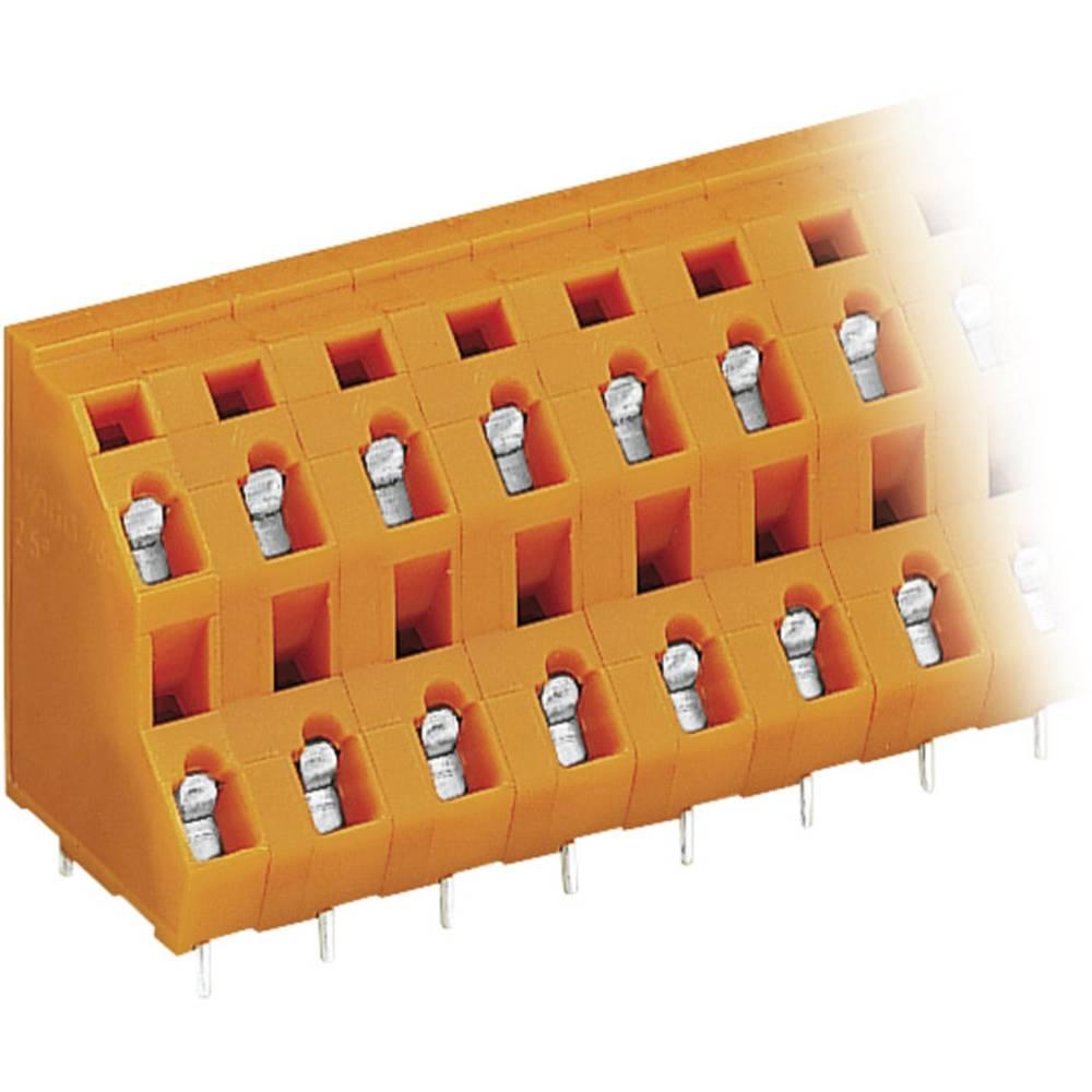 Dobbeltrækkeklemme WAGO 2.50 mm² Poltal 6 Orange 1 stk