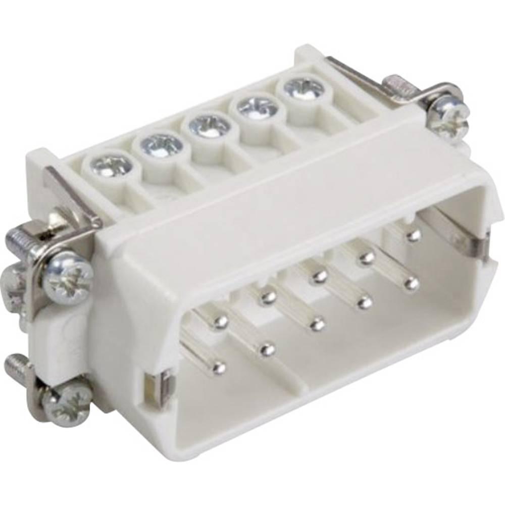 Stiftindsats EPIC® H-A 10 10440100 LappKabel Samlet poltal 10 + PE 1 stk
