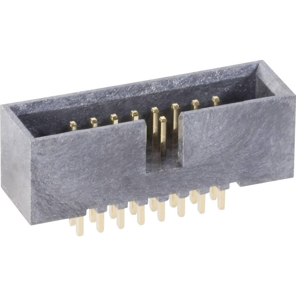 Stiftliste uden udløsergreb Rastermål: 1.27 mm Samlet antal poler: 20 BKL Electronic 1 stk