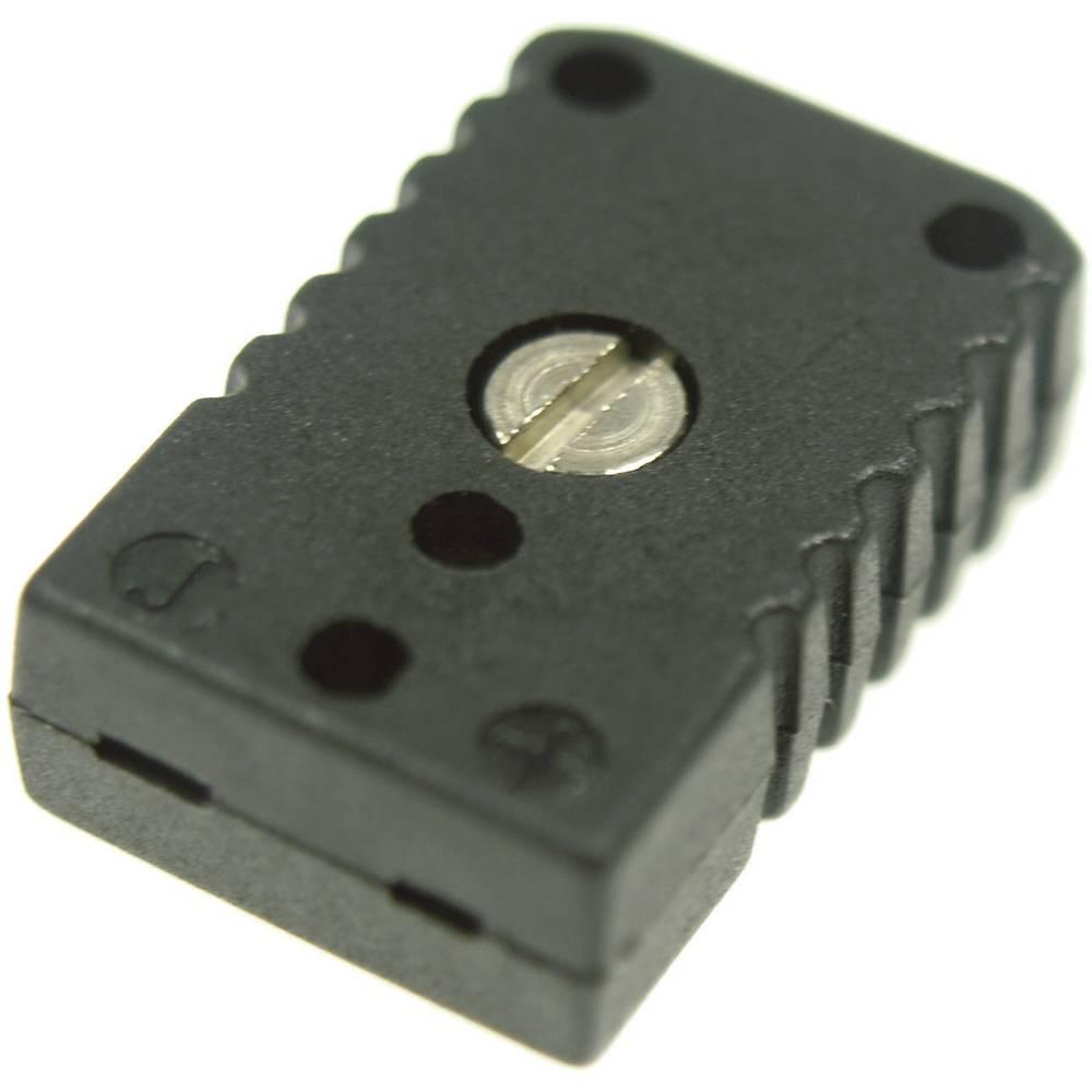 Mini konektor za termoelementB & B Thermotechnik 0220 0007, 0,5 mm2, črn, vsebina: 1 kos