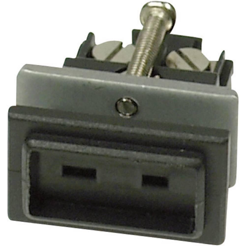 Mini konektor za termoelementB & B Thermotechnik 0220 0135-01, 0,5 mm2, črn, 1 kos