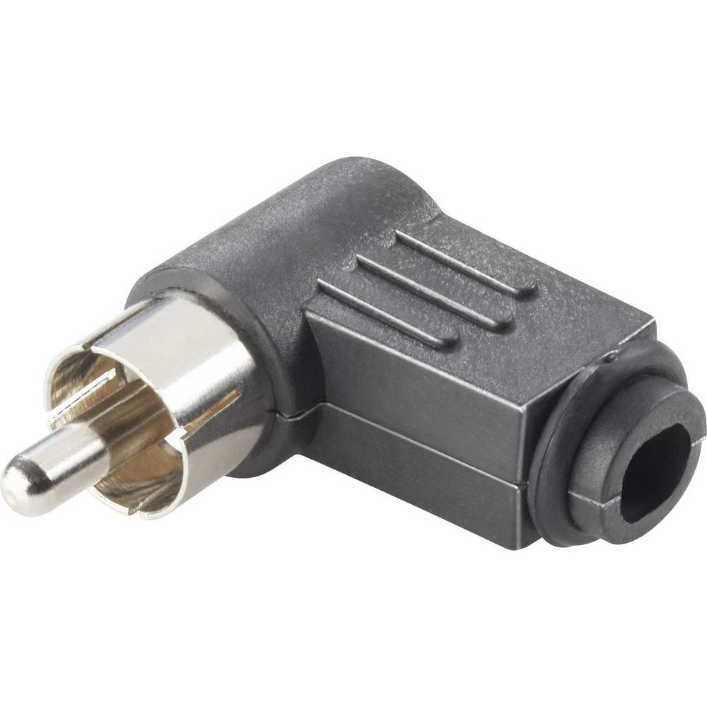 Činč konektor, ženski, kotni, število polov: 2 črn, 4 kosi
