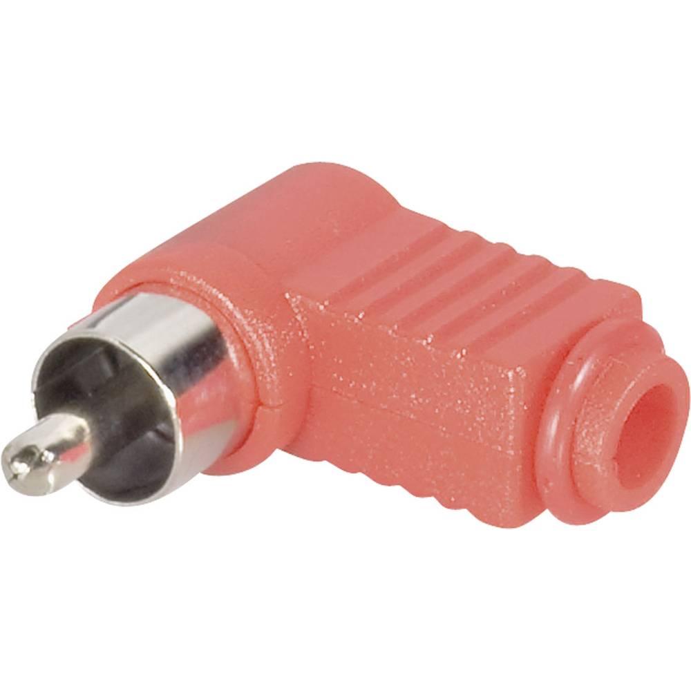 BKL Electronic 72142/T-Činč konektor, moški, kotni, število polov: 2, rdeč, 1 kos