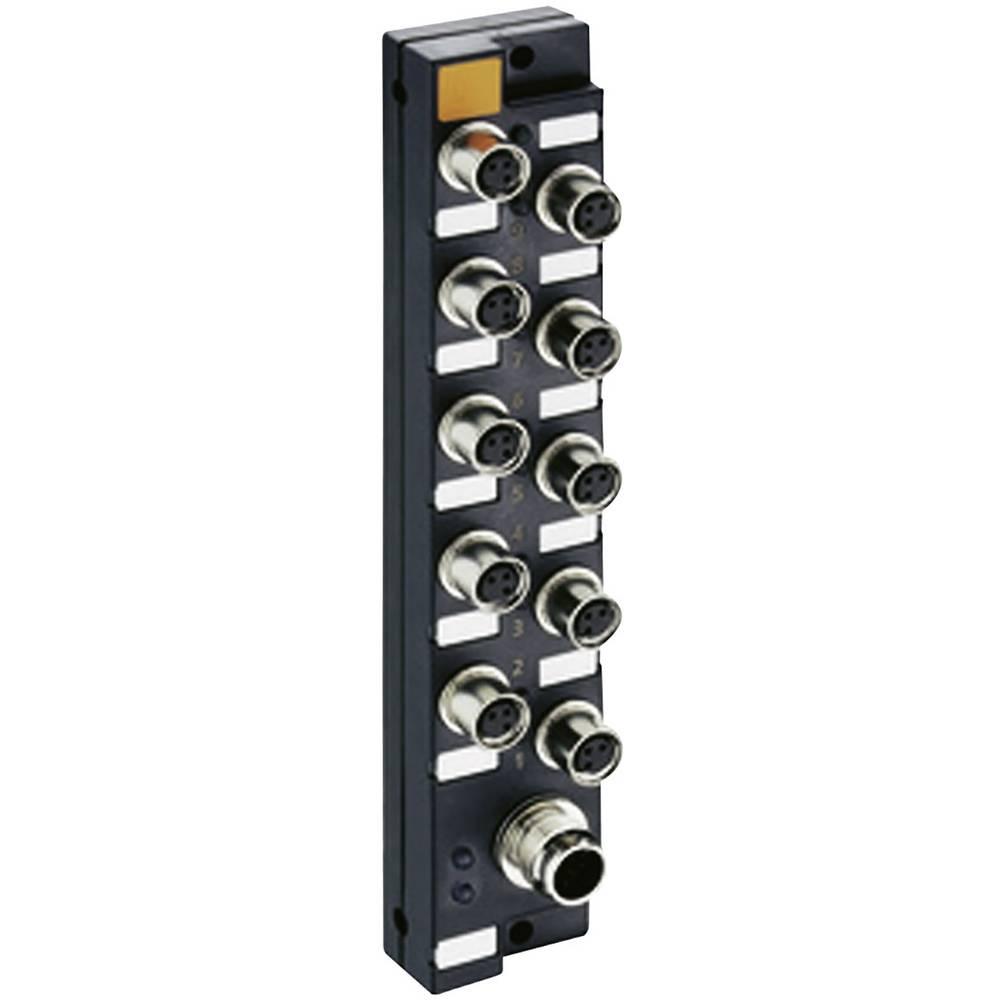 Mini razdelilnik za aktuatorje Lumberg Automation ASBSM 10/LED3, M8, brez kabla, mesta: 10