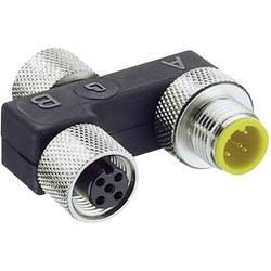 Sensor/ställdon passiv M12 fördelare med metallgänga 0906 UTP 101 7843 Lumberg Automation 1 st