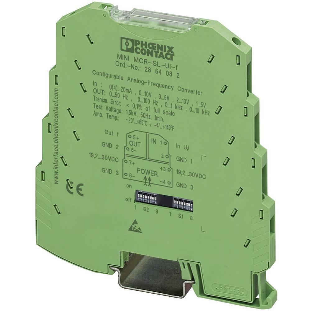 Nastavljiv analogni frekvenčnipretvornik 02 izvirna tipskaoznaka proizvajalca=MINI MCR-S 2864082 Phoenix Contact