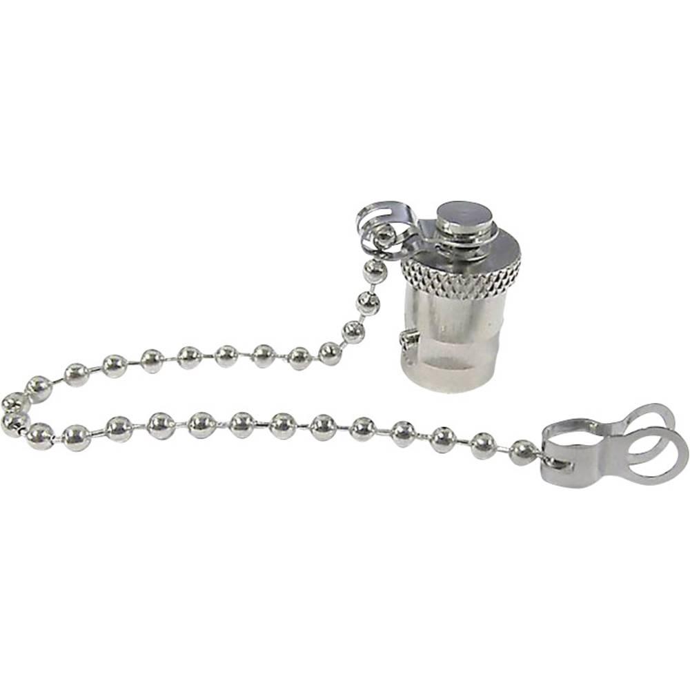 BNC locking cap with chain
