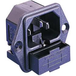 IEC-kontakt PF Series (Nätanslutning) PF Kontakt hane inbyggd vertikal Antal poler: 2 + PE 10 A Svart Bulgin PF0001/28 1 st