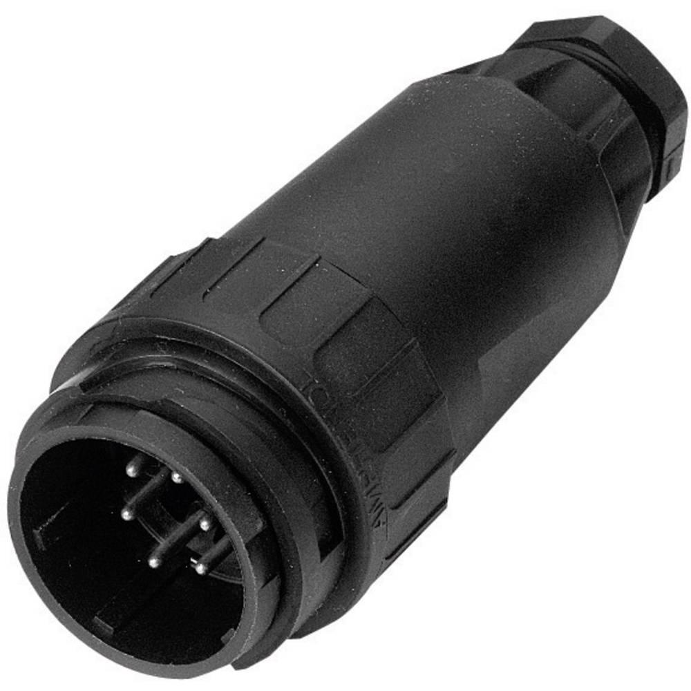Ravni moški konektor za kabelC16-3 C016 10I019 Amphenol